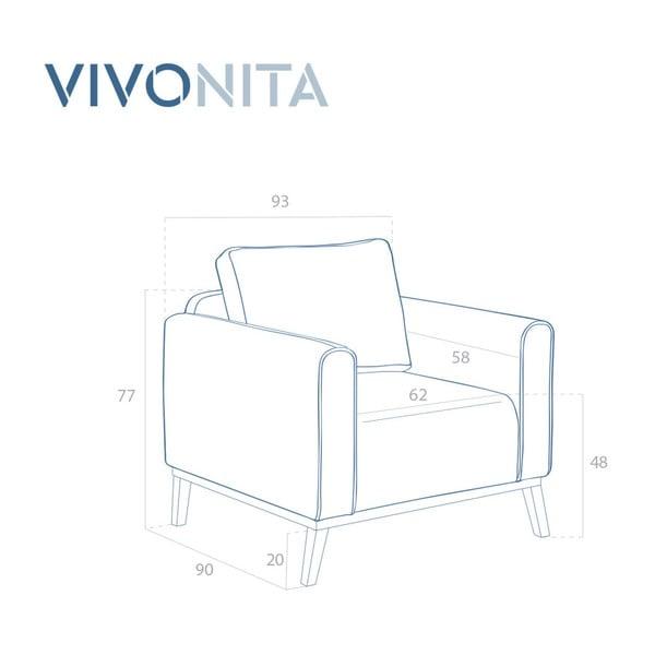Milton türkizkék fotel - Vivonita