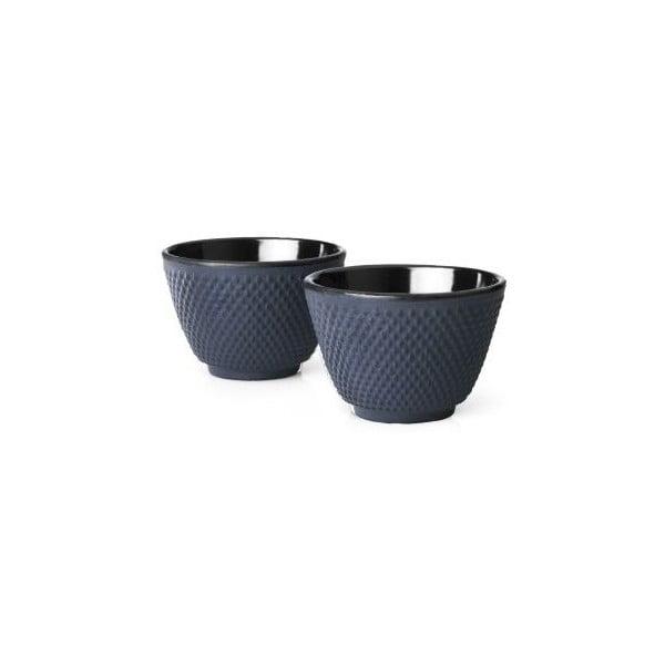Xilin 2 db kék öntöttvas teásbögre, ⌀ 7,8 cm - Bredemeijer