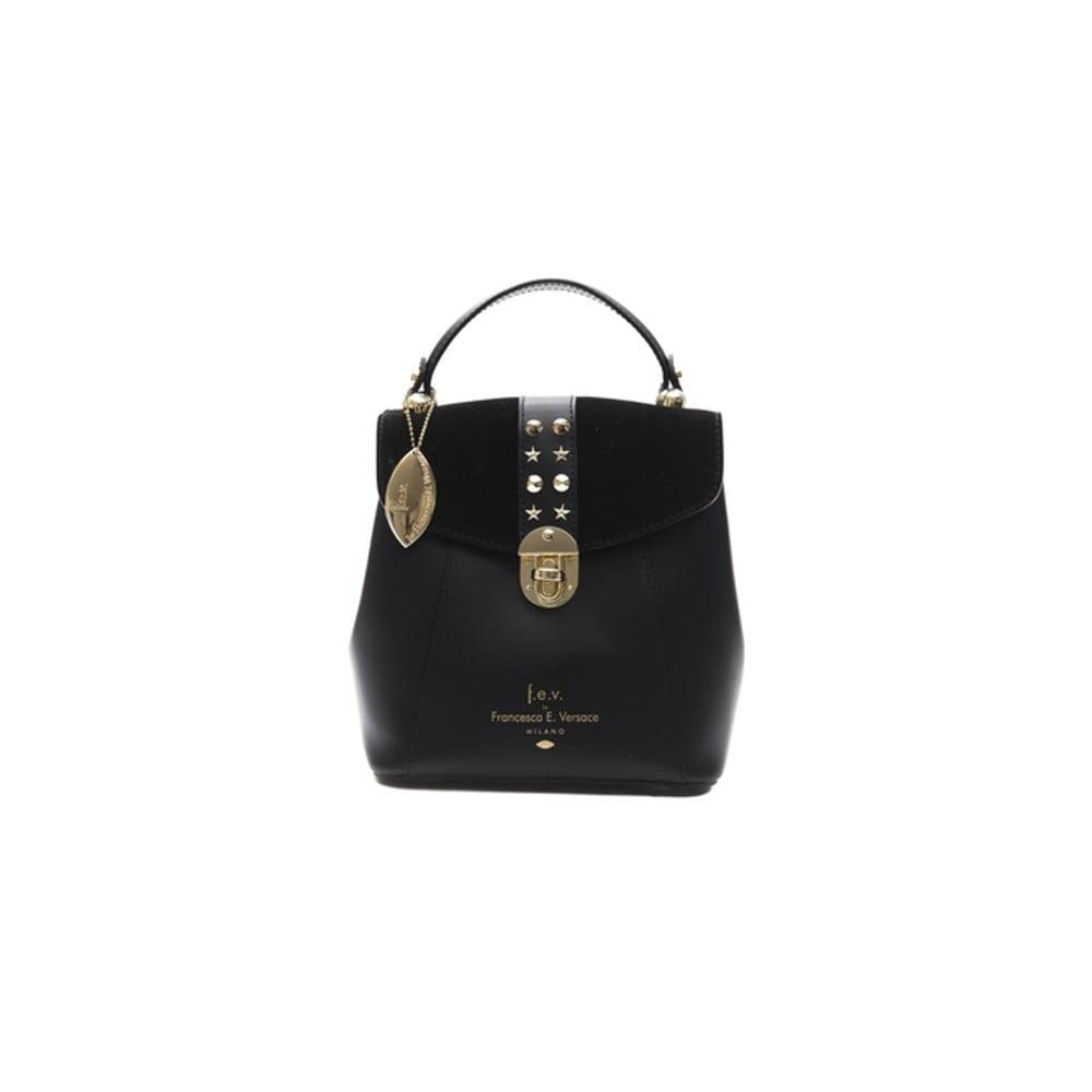 Rismo fekete női bőr hátizsák - f.e.v. by Francesca E. Versace  8faeda04da