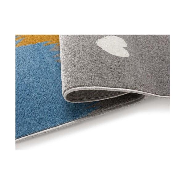 Grey róka mintás szürke szőnyeg, 80 x 150 cm - KICOTI