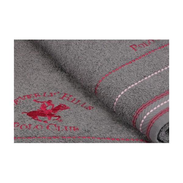 Polo Club szürke törölköző szett, 2 darabos