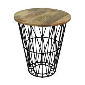 Tower kisasztal mangófa asztallappal, Ø 45 cm - HSM collection
