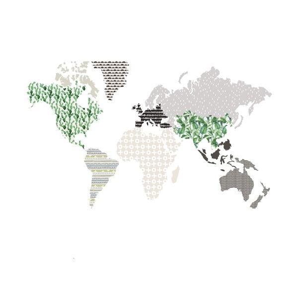 Brown Map falmatrica, 120 x 70 cm - Dekornik