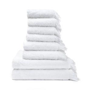 6 db fehér 100% pamut törölköző és 2 db fürdőlepedő - Bonami