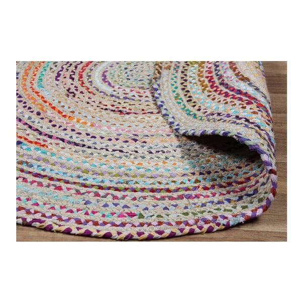 Színes, kerek pamutszőnyeg, Ø 150 cm - Eco Rugs