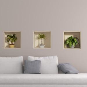 Palms 3 db-os 3D hatású falmatrica szett - Ambiance