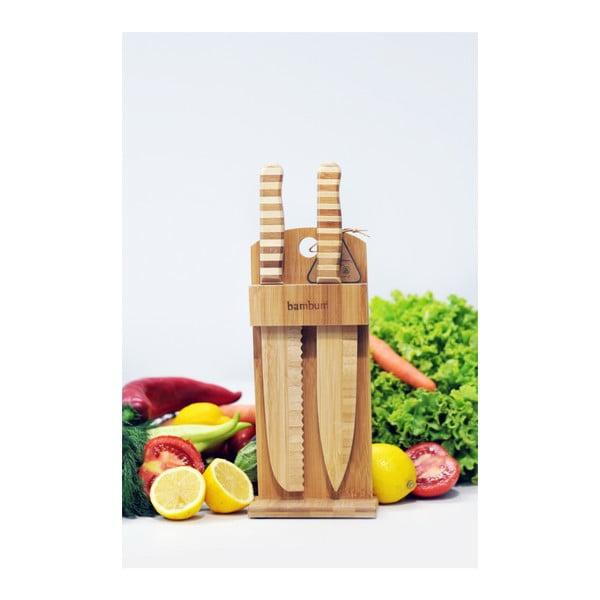 Chapati bambuszállvány 2 db késsel - Bambum