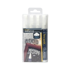 Fehér vízálló folyékony kréta szett, 4 db - Securit®