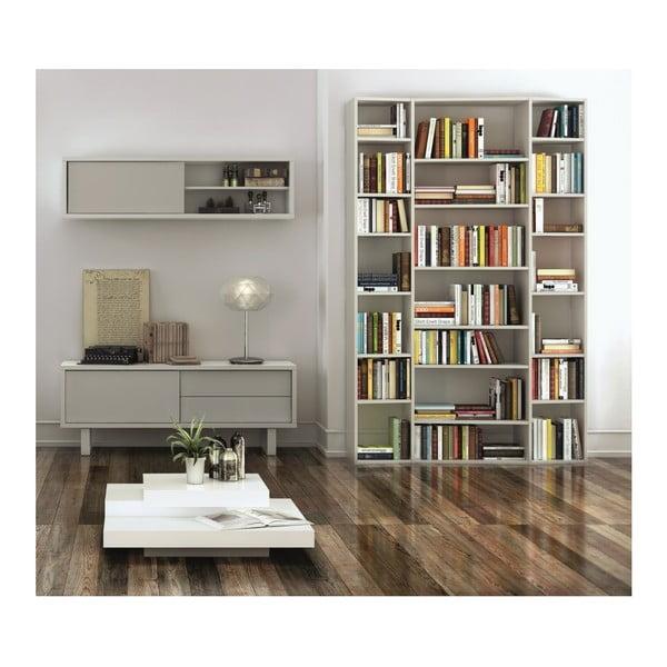 Valsa fehér könyvespolc, szélesség 144 cm - TemaHome