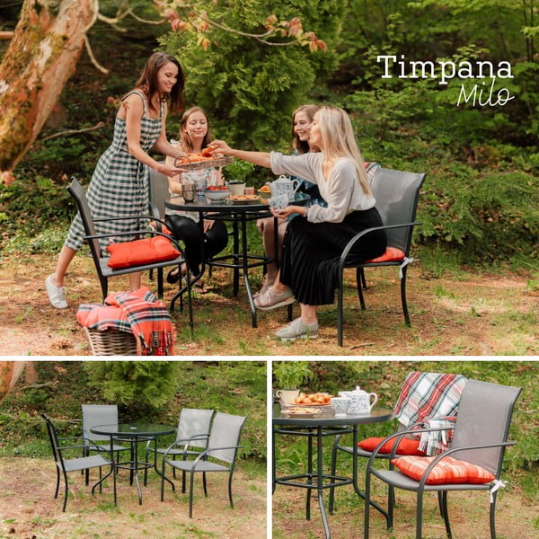 Milo kerti fém bútor garnitúra - Timpana