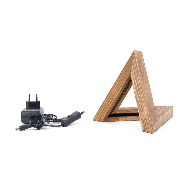 Triangle fa asztali lámpa