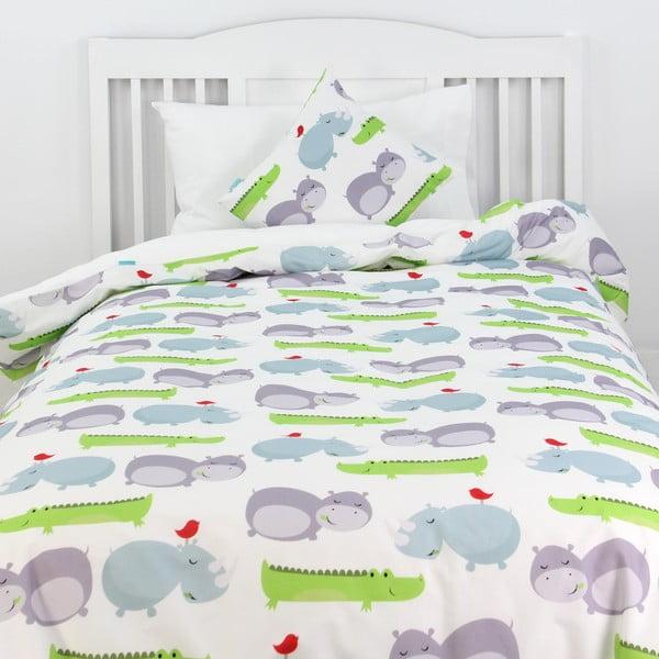 Hippo gyermek pamut ágyneműhuzat, 140 x 200 cm - Mr. Fox