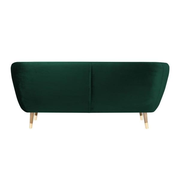 Benito sötétzöld háromszemélyes kanapé - Mazzini Sofas