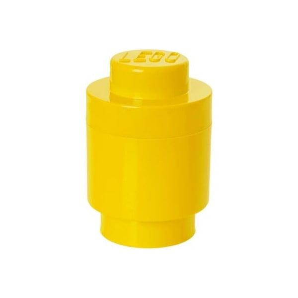 Sárga hengeralakú tárolódoboz, ⌀ 12,5 cm - LEGO®