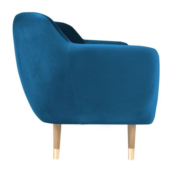 Amelie kék háromszemélyes kanapé - Mazzini Sofas