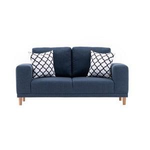 Franz sötétkék kétszemélyes kanapé
