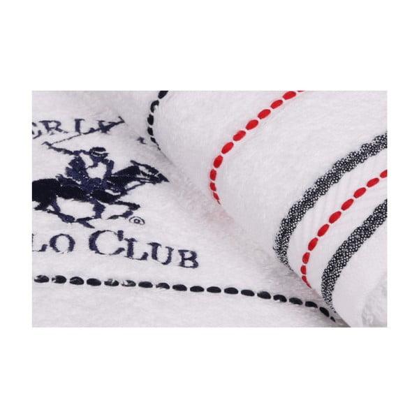 Polo Club fehér kéztörlő szett, 2 darabos