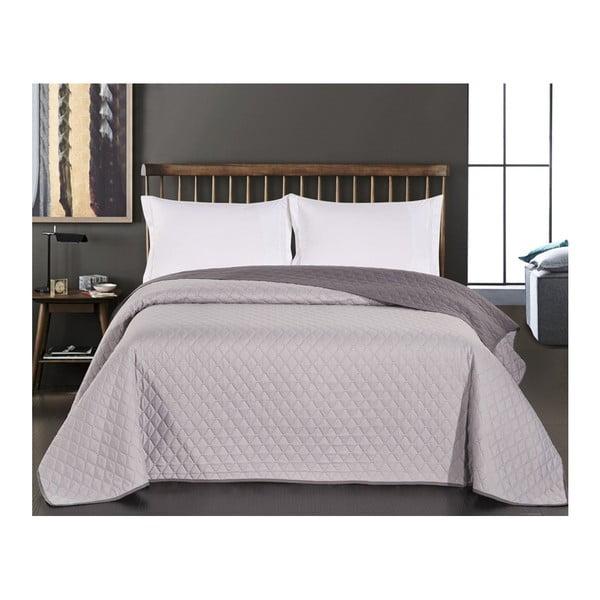 Axel kétoldalas mikroszálas szürke ágytakaró, 220 x 240 cm - DecoKing