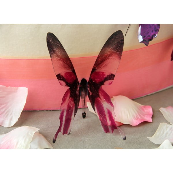 Butterflies rózsaszín 3D hatású 18 db-os falmatrica szett - Ambiance