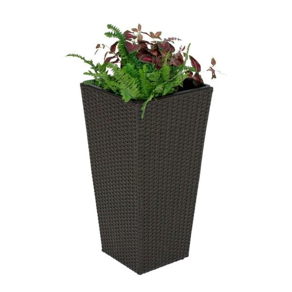 Planter sötétszürke kerti kaspó, magasság 70 cm - ADDU