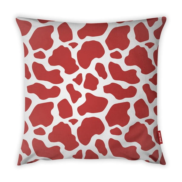 Animal Print piros-fehér párnahuzat, 43 x 43 cm - Vitaus