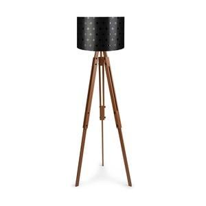 Retro állólámpa fekete lámpaburával - Homitis
