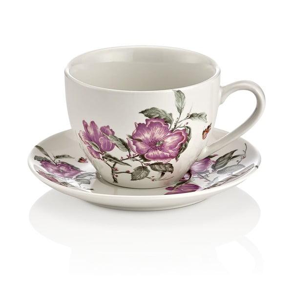 Shine Elegance 6 db-os porcelán csésze és csészealj készlet - Kutahya