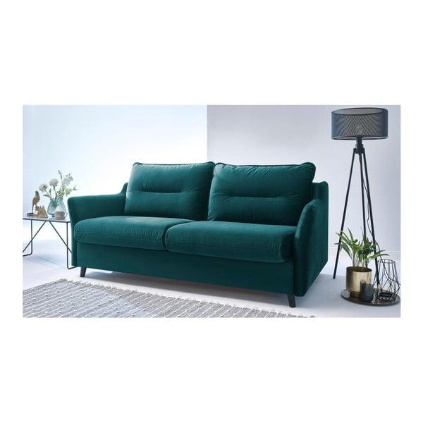 Loft zöld háromszemélyes kinyitható kanapé - Bobochic Paris