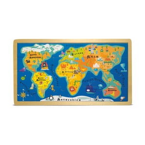 World Map puzzle keretben - Legler