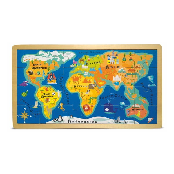 World Map puzzle keretben - Legler
