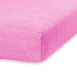 Ruby rózsaszín gumis lepedő, 200 x 140-160 cm - AmeliaHome