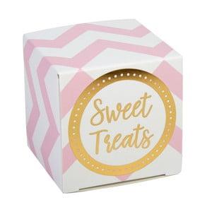 Pattern Works Zig 10 rózsaszín süteményes és tortás doboz esküvőre - Neviti