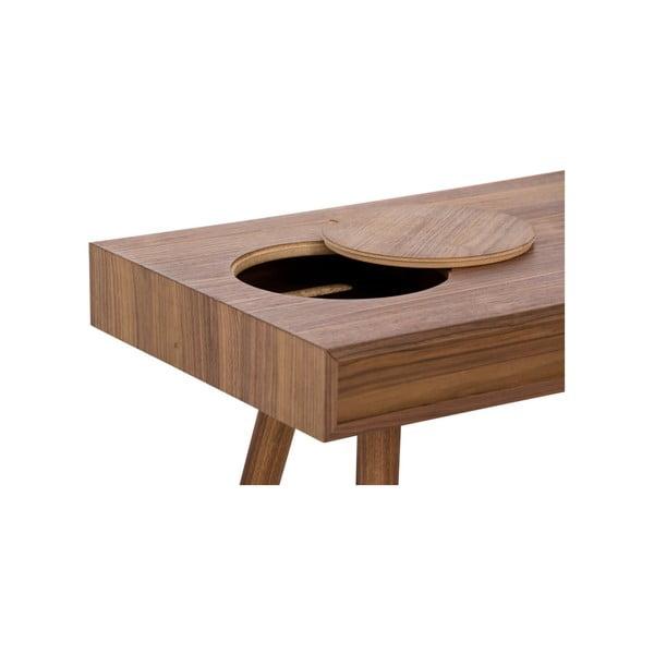 Stick sötétbarna íróasztal, 140 x 49 cm - WOOD AND VISION