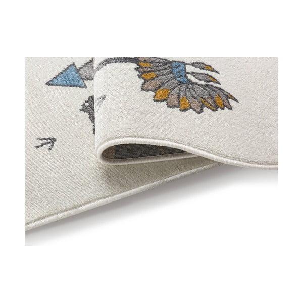 Indian világos szőnyeg indiános mintával, 240 x 330 cm - KICOTI