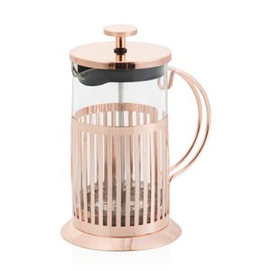 Rose Gold French press dugattyús tea és kávéfőző, 800 ml - Brandani