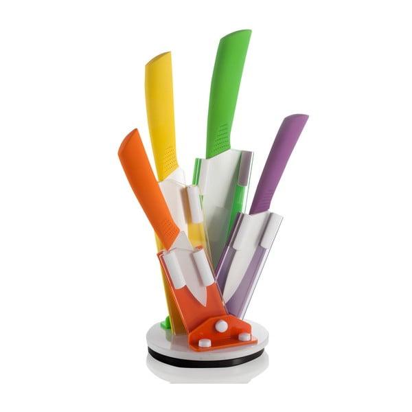 Flex színes kések késtartóval - Brandani