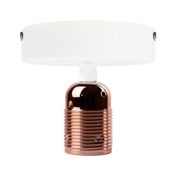 Uno Basic fehér mennyezeti lámpa rézszínű foglalattal - Bulb Attack