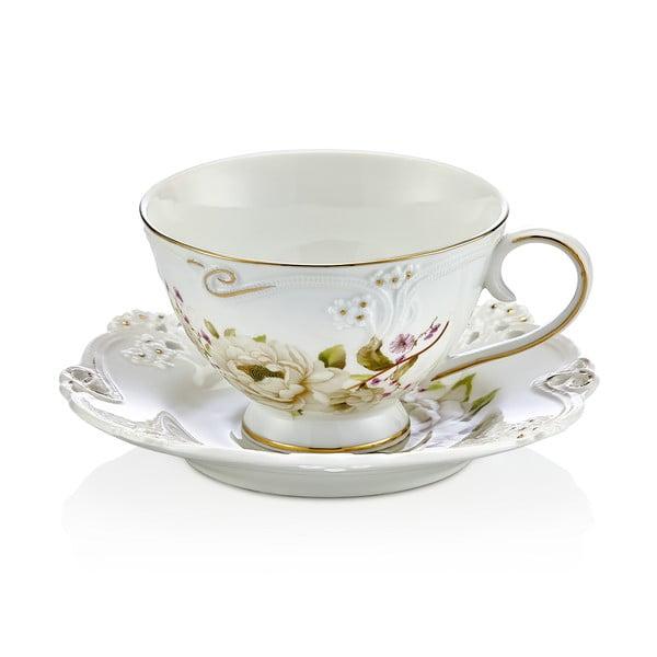 Franz 6 db-os porcelán csésze és csészealj készlet - Noble Life