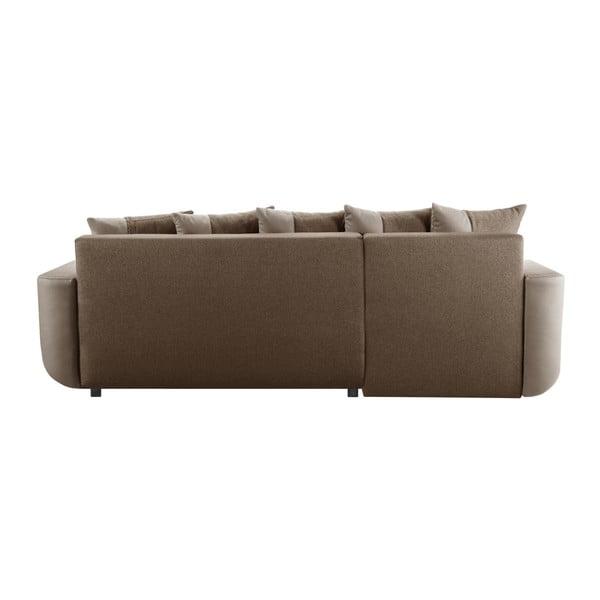 Destin karamell színű kanapé, bal oldalas - Interieur De Famille Paris