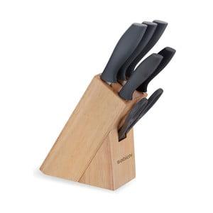 5 db szürke kés, állvánnyal - Sabichi