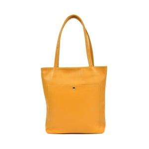 Žlutá kožená kabelka Roberta M Huniya