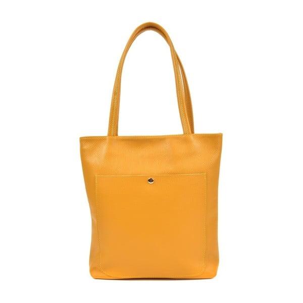 Huniya Giallo sárga bőr kézitáska - Roberta M