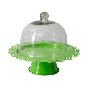 Zöld tálaló állvány üveg fedéllel, Ø 27 cm - Mauro Ferretti