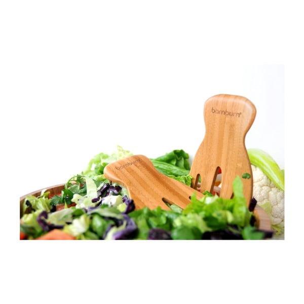 Bambusz salátaszedő eszköz szett, 18 x 10 cm - Bambum