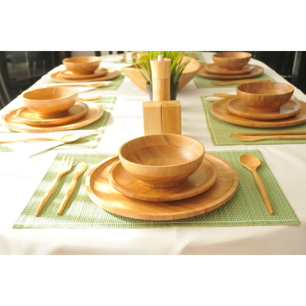 18 db-os bambusz evőeszköz készlet - Bambum