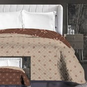 Hypnosis Snowynight barna-bézs kétoldalas mikroszálas ágytakaró, 240 x 260 cm - DecoKing