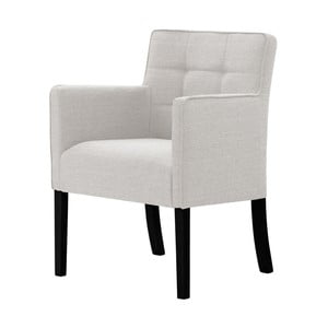 Krémová židle s černými nohami z bukového dřeva Ted Lapidus Maison Freesia