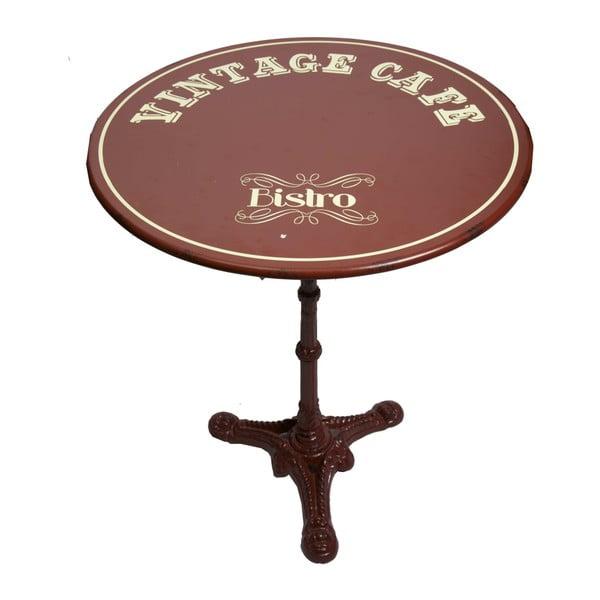 Vintage Cafe fém tárolóasztal, ⌀ 61,5 cm - Antic Line