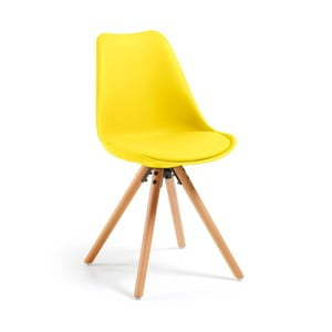 Lumos sárga szék bükkfa lábakkal - loomi.design