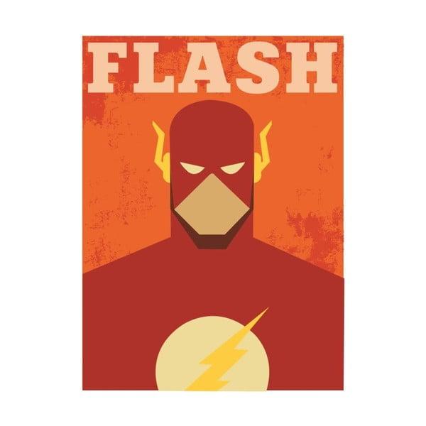 Super Heroes Flash poszter, 30 x 40 cm - Blue-Shaker